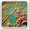 Lake elevations, areas & depths