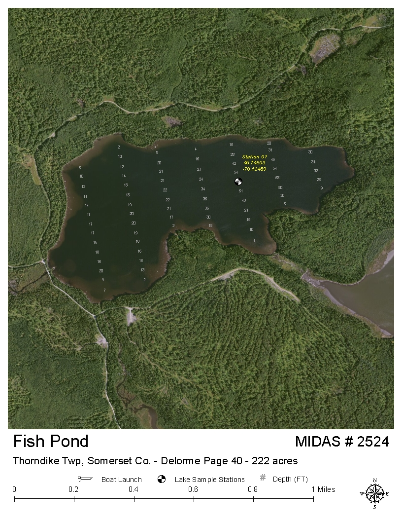 Lakes Of Maine Lake Overview Fish Pond Thorndike Twp